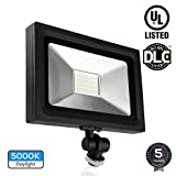 LED Flood Light with Knuckle Mount, UL & DLC listed, 30W (120W Equiv.), 3000lm Outdoor Landscape Security Lighting, waterproof IP65 100-277V, Ultra-bright Wall Washer, Die-cast Aluminum Housing, 5000K