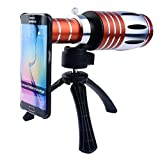 Apexel 50X Ultra Beast Magnifier Zoom Manual Focus Telephoto Telescope Phone Camera Lens Kit with High-end Tripod for Samsung Galaxy S6 Edge