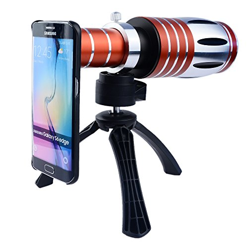 Apexel 50X Ultra Beast Magnifier Zoom Manual Focus Telephoto Telescope Phone Camera Lens Kit with High-end Tripod for Samsung Galaxy S6 Edge by Apexel
