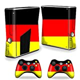 MightySkins Skin For X-Box 360 Xbox 360 S console - German Flag | Protective, Durable, and Unique Vinyl Decal wrap cover | Easy To Apply, Remove, and Change Styles | Made in the USA