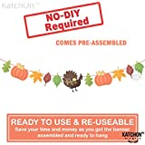 Give Thanks Garland for Thanksgiving Decorations - Pre-Assembled, No DIY Required   Happy Thanksgiving Banner Sign Garland   Thanksgiving Fall Decorations for Mantle, Dinner Table   Fall Autumn Décor