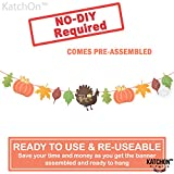 Give Thanks Garland for Thanksgiving Decorations - Pre-Assembled, No DIY Required | Happy Thanksgiving Banner Sign Garland | Thanksgiving Fall Decorations for Mantle, Dinner Table | Fall Autumn Décor: more info