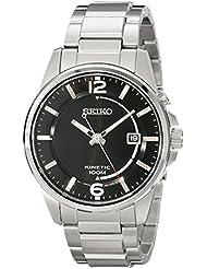 Seiko Mens SKA671 Analog Display Analog Quartz Silver Watch