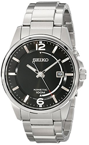 Seiko Men's SKA671 Analog Display Analog Quartz Silver Watch
