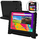 Samsung Galaxy Tab E 9.6 case for kids [SHOCK PROOF KIDS TAB E CASE] COOPER DYNAMO Kidproof Child Tab E 9.6 inch Cover | All Age Children | Light, Kid Friendly Handle & Stand, Screen Protector (Black)