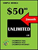 Simple Mobile 3 in 1 Sim Card W/ 2 Month $50 Included