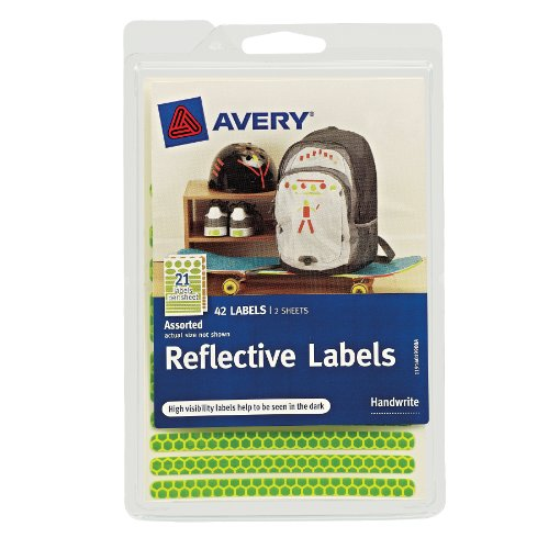 Avery Reflective Labels Assorted 40199