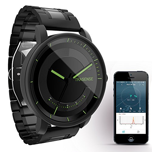 Trasense Men's Hybrid Smartwatch – Notification Reminder and Activity Tracker with Stainless Link Strap for IOS / Android