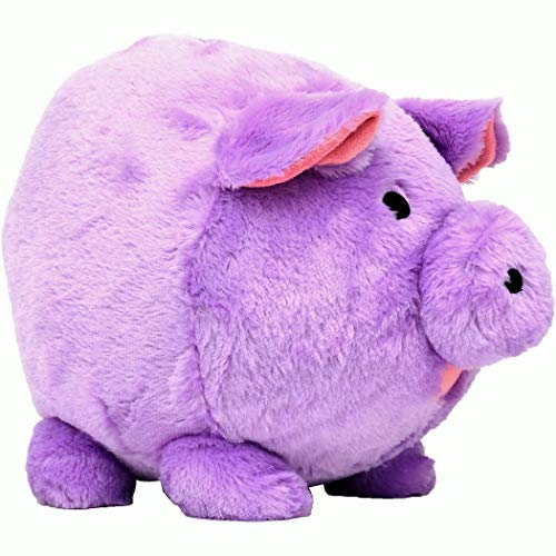 FAB Starpoint Jumbo Plush Piggy Bank, Hug Me and Fill Me! (Lavender) (Jumbo Slot Bank)