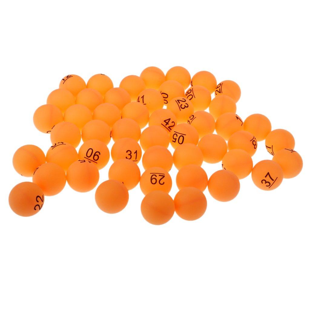 Sharplace Orange Tischtennisbälle Nummer 1-50 Trainingsbälle 40mm, 50er/Set