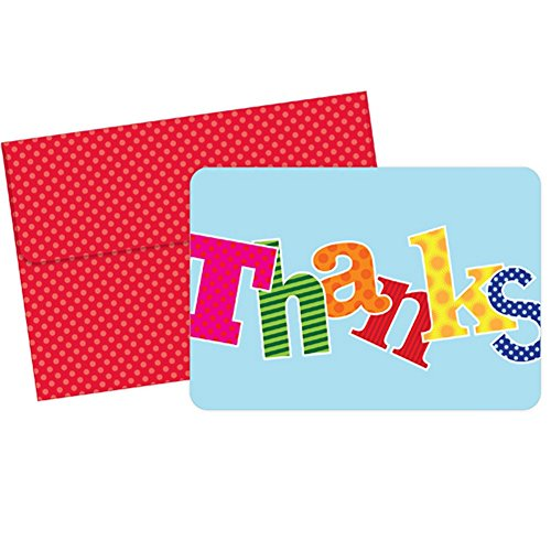 Carnival Thank You Note Cards With Envelopes - 24 Pack Gifts Folded Notes