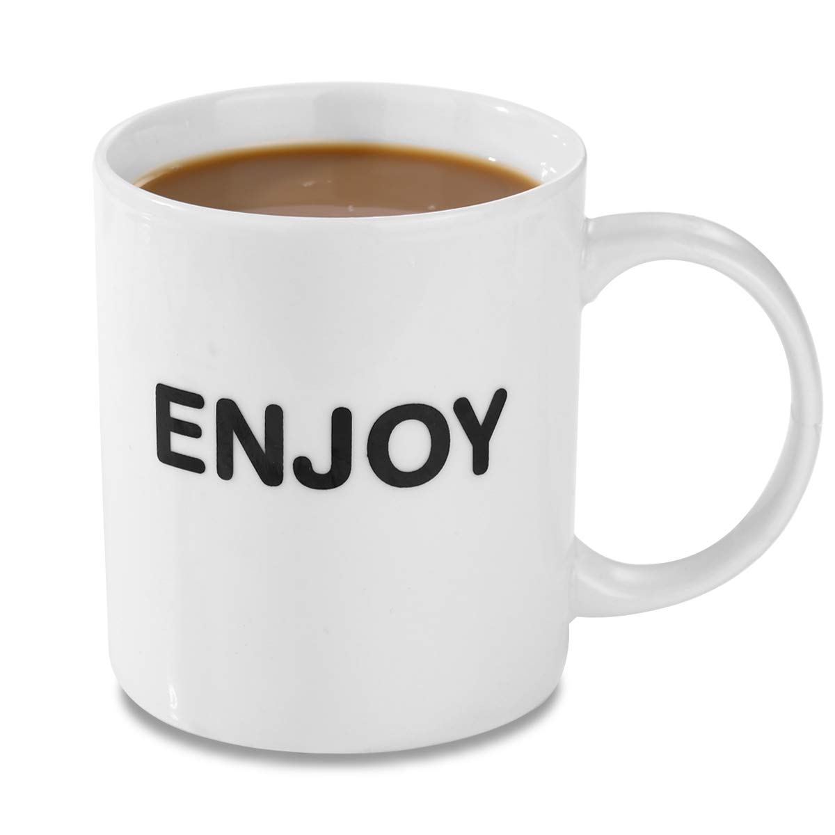 HANHAOPEAK Coffee Mug, 11oz Funny Coffee Mug: Enjoy, Unique Ceramic Novelty Holiday Christmas Hanukkah Gift for Men and Women Who Love Tea Mugs Coffee Cups, Suitable for Office and Home