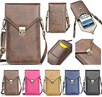 Samsung Galaxy Note 8//S9//S9 Plus//S8//S7 Edge Universal Multi-Pocket Crossbody Pouch Shoulder Strap iPhone X//8 Plus//8//7 Plus//6s//6//5s//5c Cell Phone Bag