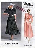 Vogue American Designer 18611987 Albert Nipon, Misses' Top & Skirt, Size 8