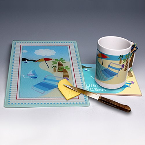 (Beach-Themed Sampler Package ~ Entire serving set for your entertaining needs ~ Perfect gift that can be personalized!)