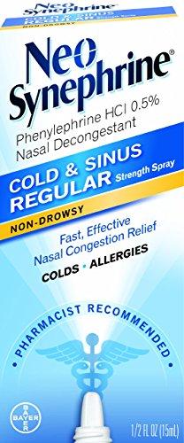 Neo-Synephrine Nasal Spray , Regular Strength Formula, 0.5-Ounce (Pack of 2)