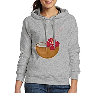 Ubaizha Coconut Drinks Women's Hoodie L Ash