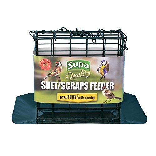 - Supa Premium Suet Block/Scrap Bird Feeder With Tray (One Size) (Green)