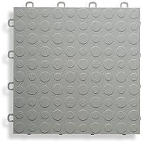 BlockTile B0US4630 Garage Flooring Interlocking Tiles Coin Top Pack, Gray, by BlockTile