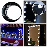 OWIKAR Makeup Mirror Lights Hollywood Style LED Vanity Mirror Lights Kit with 10 Dimmable Bulbs, Lighting Fixture Strip for Makeup Vanity Table Set in Dressing Room