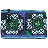 Amazon.com: Ganchillo de paja playa bolso de mano w/Flores ...