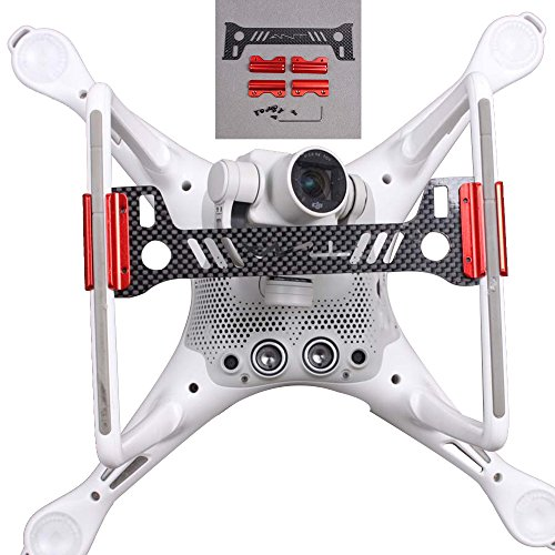Hobby Signal Phantom 4 Gimbal Camera Protector Guard Bracket Carbon Fiber Board Landing Gear for (Carbon Fiber Landing Gear)