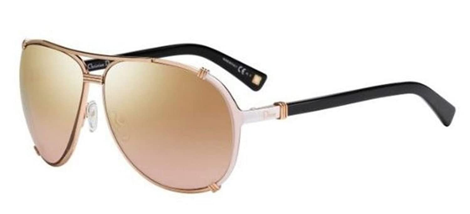 06f4fdb34055 New Christian DIOR CHICAGO 2 UPU FM Rose Gold Cream Pink Sunglasses   Amazon.co.uk  Clothing