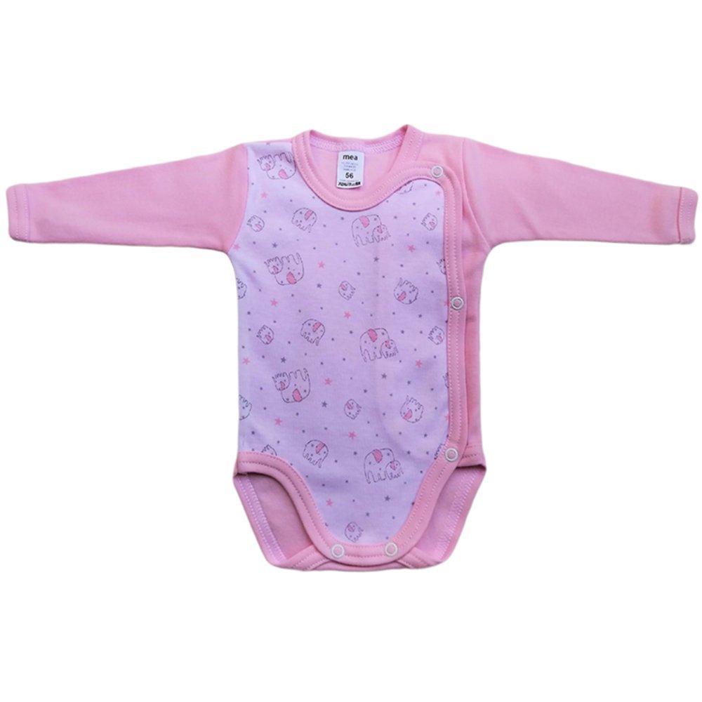 MEA BABY Unisex Baby Langarm Body aus 100/% Baumwolle im 5er Pack Baby Langarm Wickelbody mit Print Baby Wickelbody f/ür Madchen Baby Wickelbody f/ür Jungen