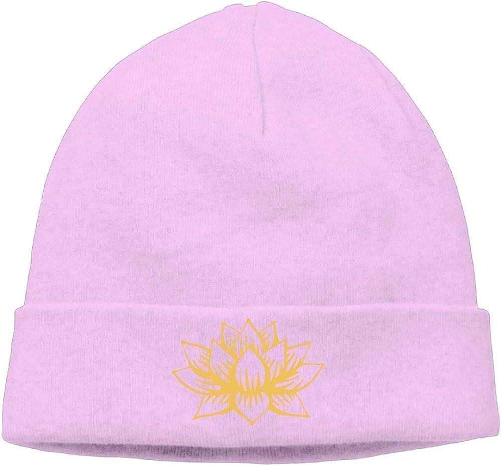 09/&JGJG White Golden Lotus Mandala Men /& Women Knit Beanie Cap Warm Knit Ski Skull Cap
