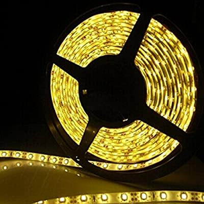 Waterproof LED 3528 SMD 300LED 5M Flexible Light Strip 12V 2A 24W 60LED/M Yellow