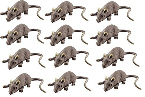 Rubber Mouse Lifelike, 12 Pack