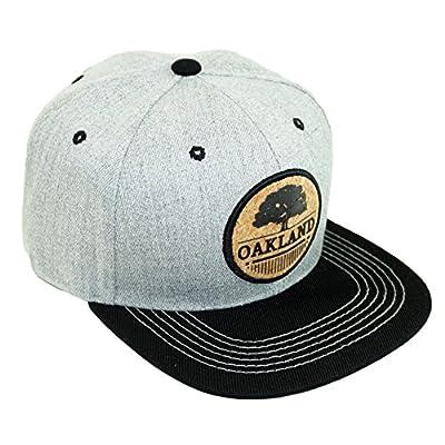 Bingoo Oakland Circle Patch Embroidery Snapback Hat Adjustable State Baseball Cap