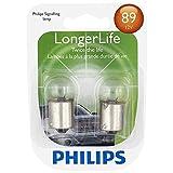 Philips 89 LongerLife Miniature Bulb, 2 Pack