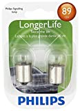 ford contour trunk seal - Philips 89LLB2 89 LongerLife Miniature Bulb, 2 Pack