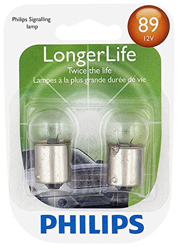 Philips 89LLB2 89 LongerLife Miniature Bulb, 2 Pack