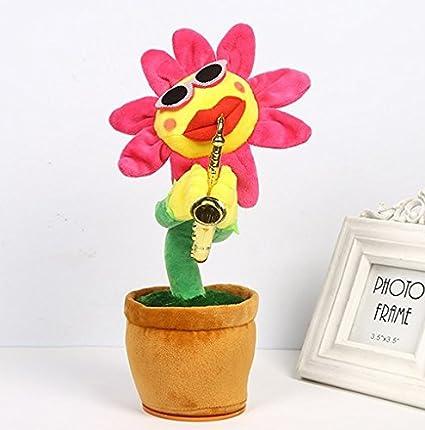Muñeca eléctrica animada con diseño de flor de Kofum, canta, baila y ...