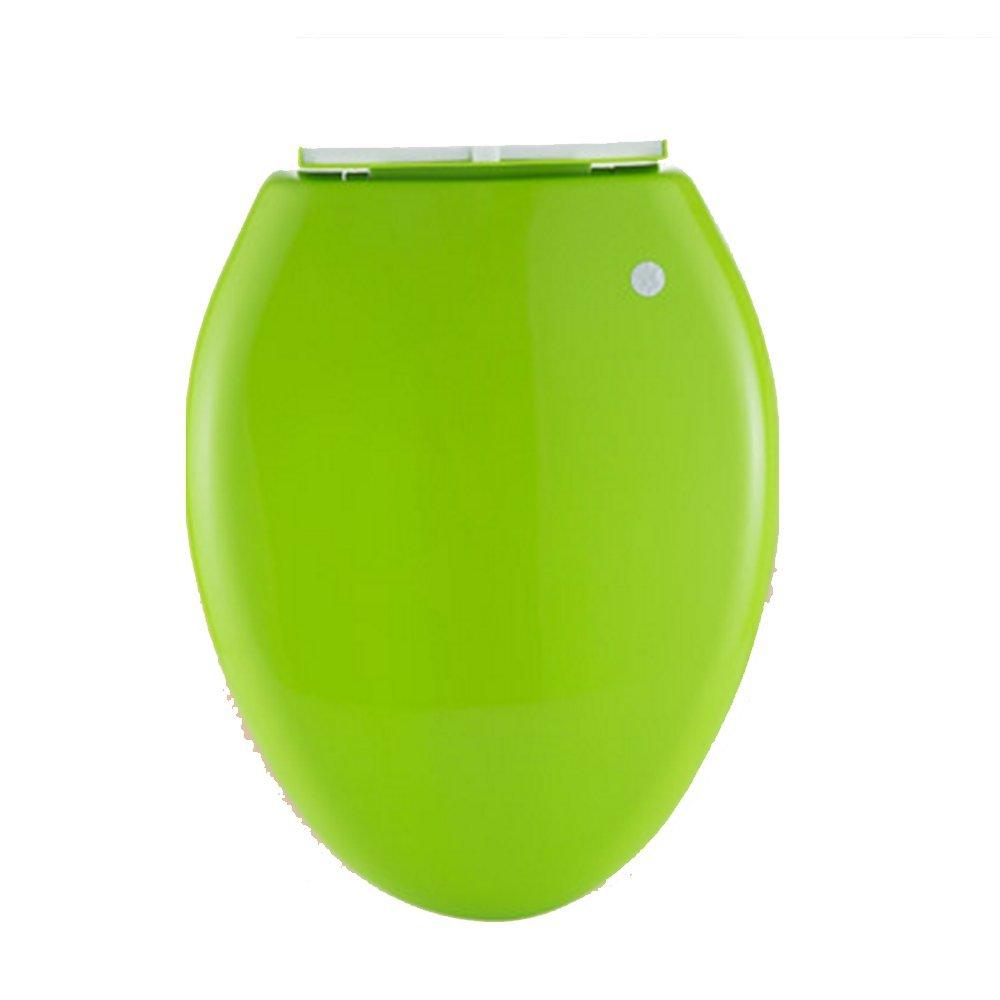Toilet lid Nan Espesar la Tapa del Inodoro Universal Verde Inodoro Tapa del Inodoro Accesorios de la Tapa del Inodoro de liberaci/ón r/ápida Vintage sin Plomo Cubierta descendente Color : 2