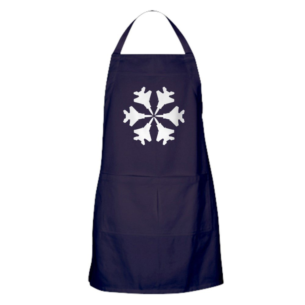 CafePress - F-15 Aviation Snowflake - Kitchen Apron with Pockets