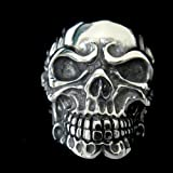 The Biker Metal 316L Stainless Steel Men's Skull Head Ring for Harley Rider Motor Biker TR-70 by Priority Mail