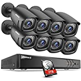 ANNKE 1080P CCTV Camera Systems 8+2 Channel H.264+ DVR and (8) 1920TVL 2.0MP FHD Weatherproof Bullet Cameras, 2TB Surveillance Hard Drive, Email Alert with Snapshots