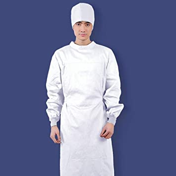 OPPP Ropa médica Unisex, médico, Bata, cirugía, Manga Larga, cirugía,