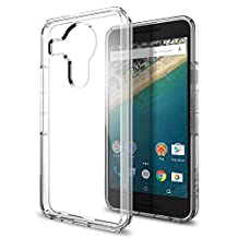 Nexus 5x Case, Spigen Ultra Hybrid - Air Cushioned Hybrid Drop Protection Clear Case for Nexus 5x (2015) - Crystal Clear