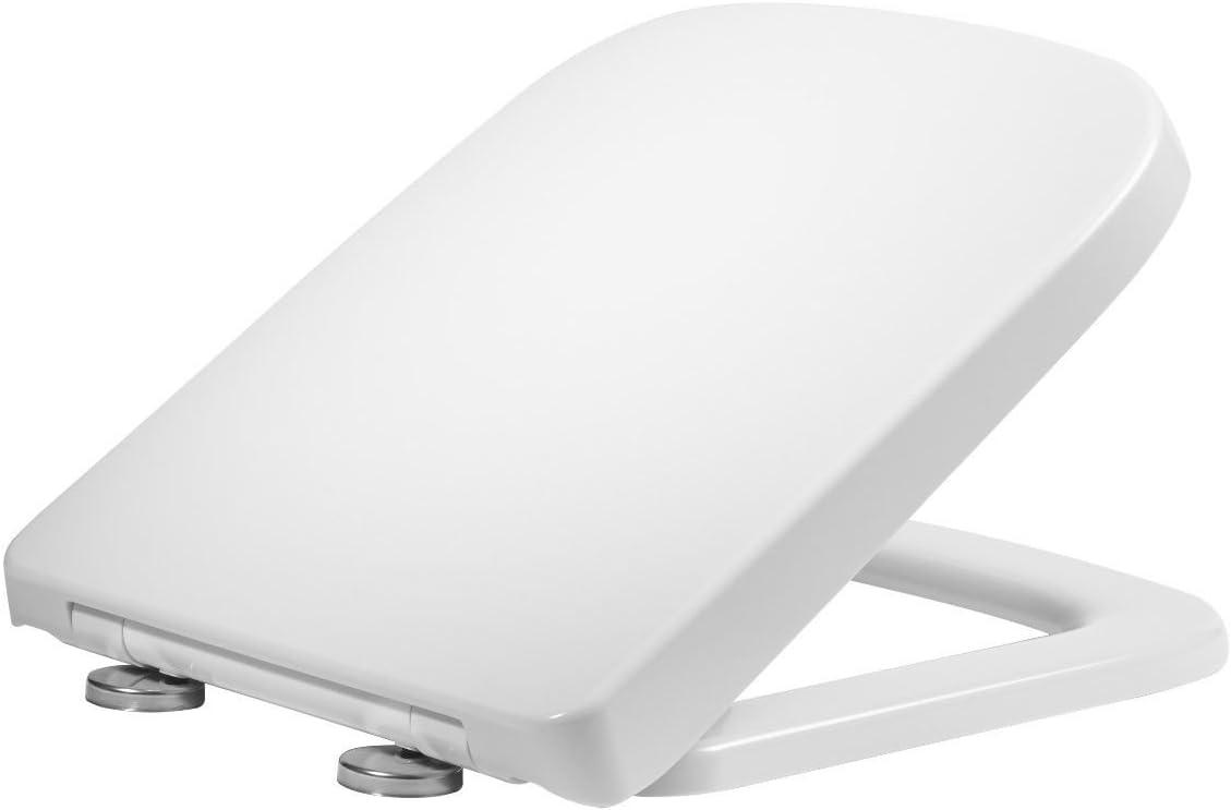 Linear Wrap Over Square Soft Close Toilet Seat - Fits RAK 600, Pura Urban, K-Vit Options 600 & Vitra S20