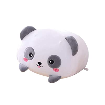 AIXINI 23.6 inch Cute Panda Plush Stuffed Animal Cylindrical Body Pillow,Super Soft Cartoon Hugging Toy Gifts for Bedding, Kids Sleeping Kawaii Pillow: Toys & Games