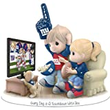 Figurine: Precious Moments Every Day Is A Touchdown With You Giants Figurine by The Hamilton Collection