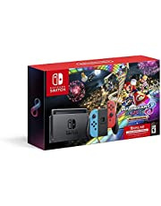 Nintendo Switch w/ Neon Blue & Neon Red Joy-Con + Mario Kart 8 Deluxe (Full Game Download) + 3 Month Nintendo Switch Online Individual Membership