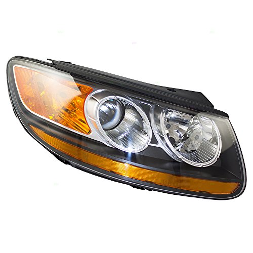 Passengers Headlight Headlamp Replacement for Hyundai Santa Fe SUV (Hyundai Santa Fe Suv)