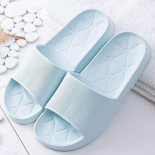 Non aLins Slip Sandals Bath Women Indoor House Shower Blue Slippers Casual Men Home OqO0wrnC