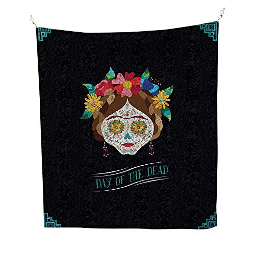 Anshesix Day of The Dead Bedroom Tapestry Hispanic
