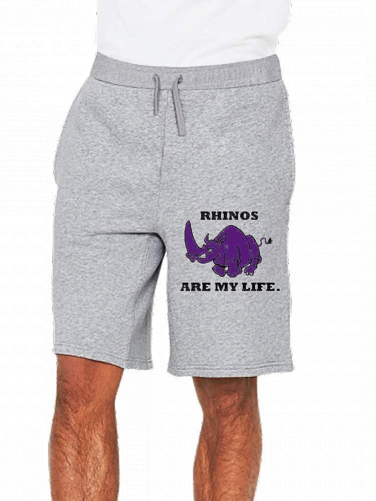 Rhinos are My Life Mens Casual Shorts Pants